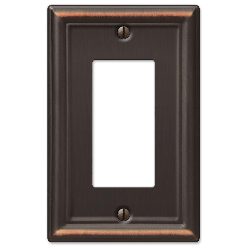 Ascher 1 Decora Wall Plate - Aged Bronze Stamped