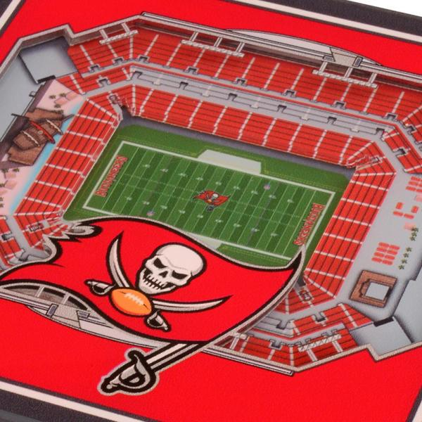 youthefan nfl tampa bay buccaneers 3d stadiumviews coasters 5024771 the home depot thirstystone