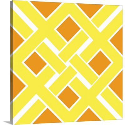 """Graphic Pattern IV"" by N. Harbick Canvas Wall Art"