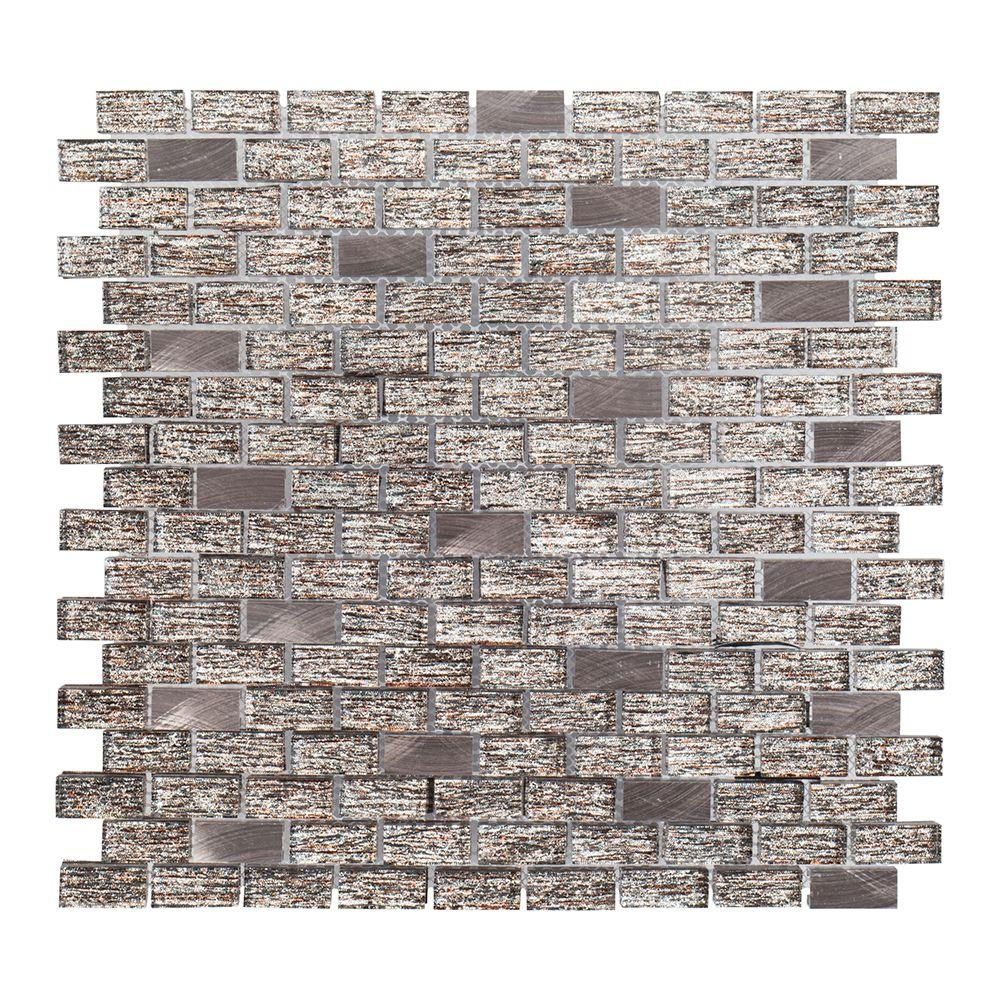 Prezzano 12 in. x 12 in. x 8 mm Glass Mosaic