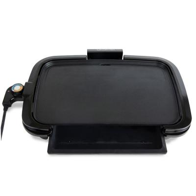 13 in. Black Griddle with Non-Stick Surface and Warming Drawer