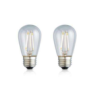 11W Equivalent Warm White S14 Clear Lens Nostalgic LED Light Bulb (2-Pack)