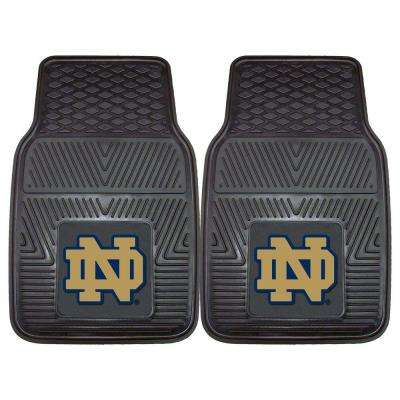 NCAA Notre Dame Heavy Duty 2-Piece 18 in. x 27 in. Vinyl Car Mat