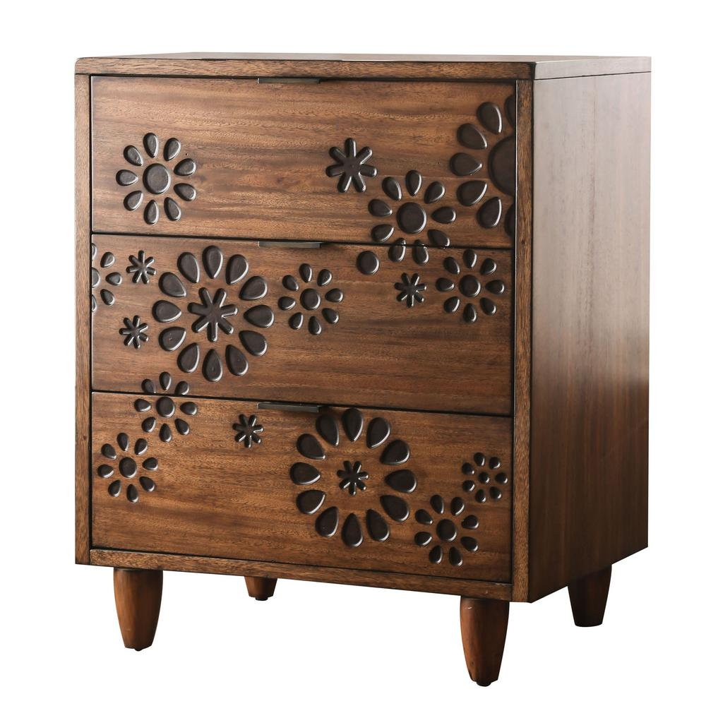 Furniture of america chelsea dark oak small chest