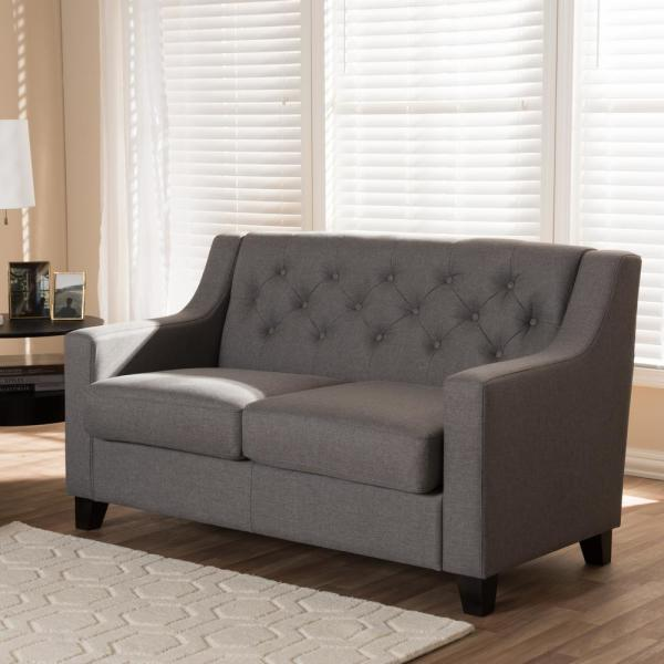 Baxton Studio Arcadia Modern And Contemporary Grey Fabric: Baxton Studio Arcadia Contemporary Gray Fabric Upholstered