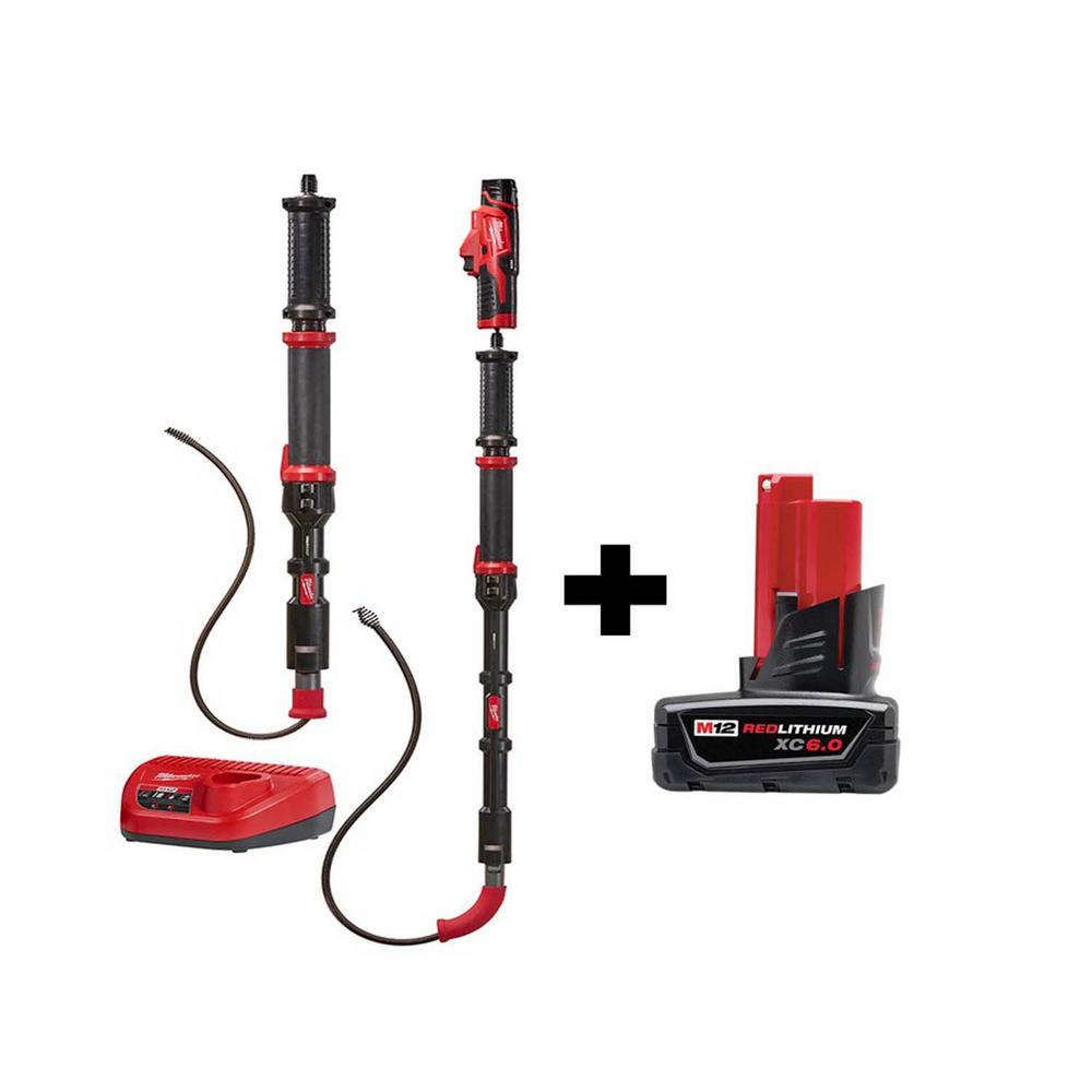 Milwaukee M12 Trap Snake 12-Volt Lithium-Ion Cordless 4 ft. and 6 ft. Auger Drain Cleaning Combo Kit with Free M12 6.0 Ah Battery was $298.0 now $179.1 (40.0% off)