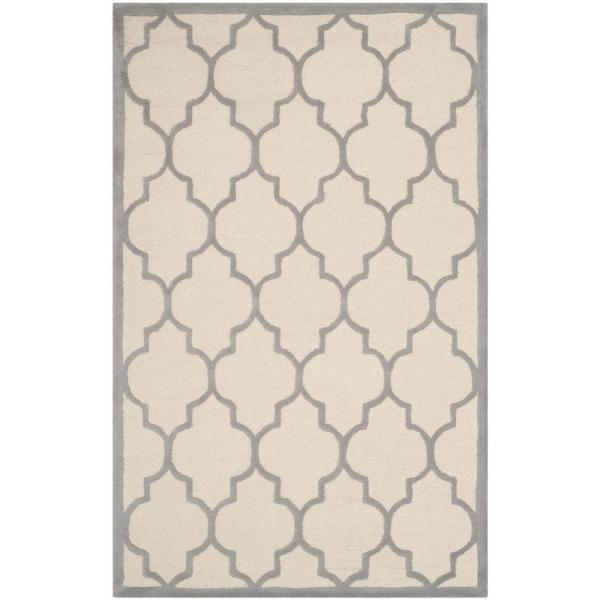 Cambridge Ivory/Silver 8 ft. x 10 ft. Area Rug