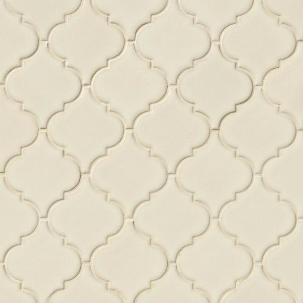 Backyard Gas Fire Pit Ideas, Msi Antique White Arabesque 10 1 2 In X 15 1 2 In X 8 Mm Glossy Ceramic Mesh Mounted Mosaic Wall Tile 11 7 Sq Ft Case Pt Aw Arabesq The Home Depot