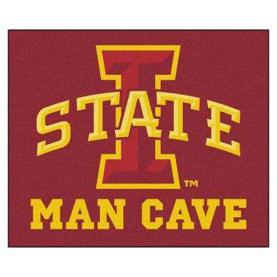 Iowa State University Red Man Cave 5 ft. x 6 ft. Area Rug