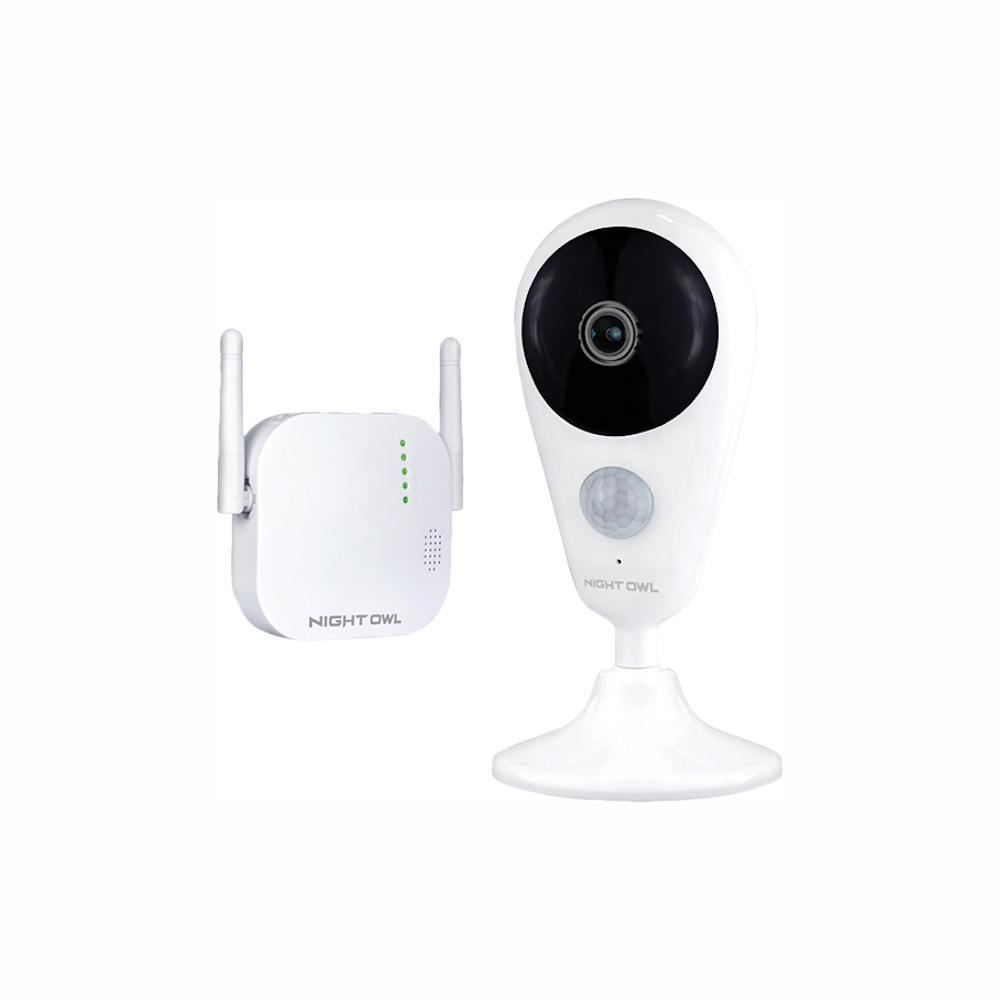 Night Owl 4-Channel 1080p 16GB MicroSD Card Wireless Surveillance System with 1-Wireless Indoor Camera