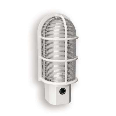White Industrial Cage LED Night Light