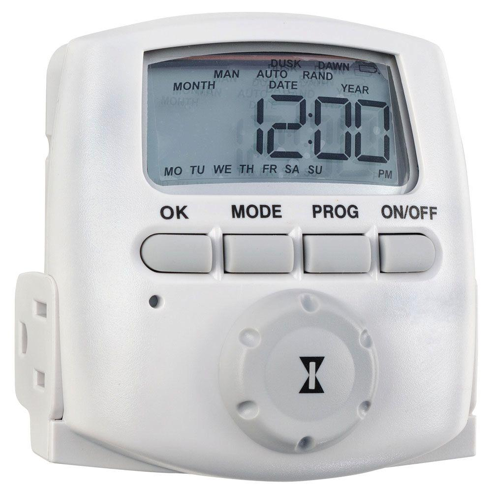 intermatic 15 amp heavy duty plug in digital timer dt620 the home