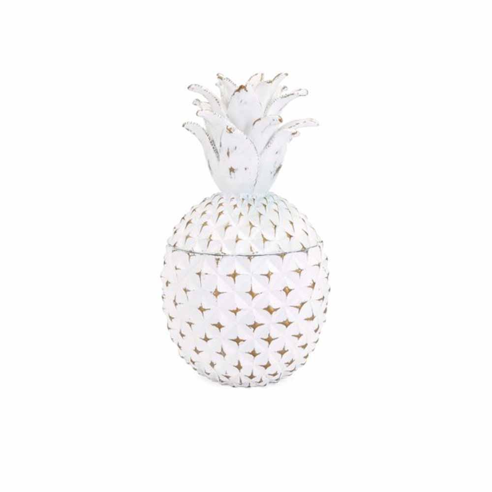 White Brianna Small Pineapple Box
