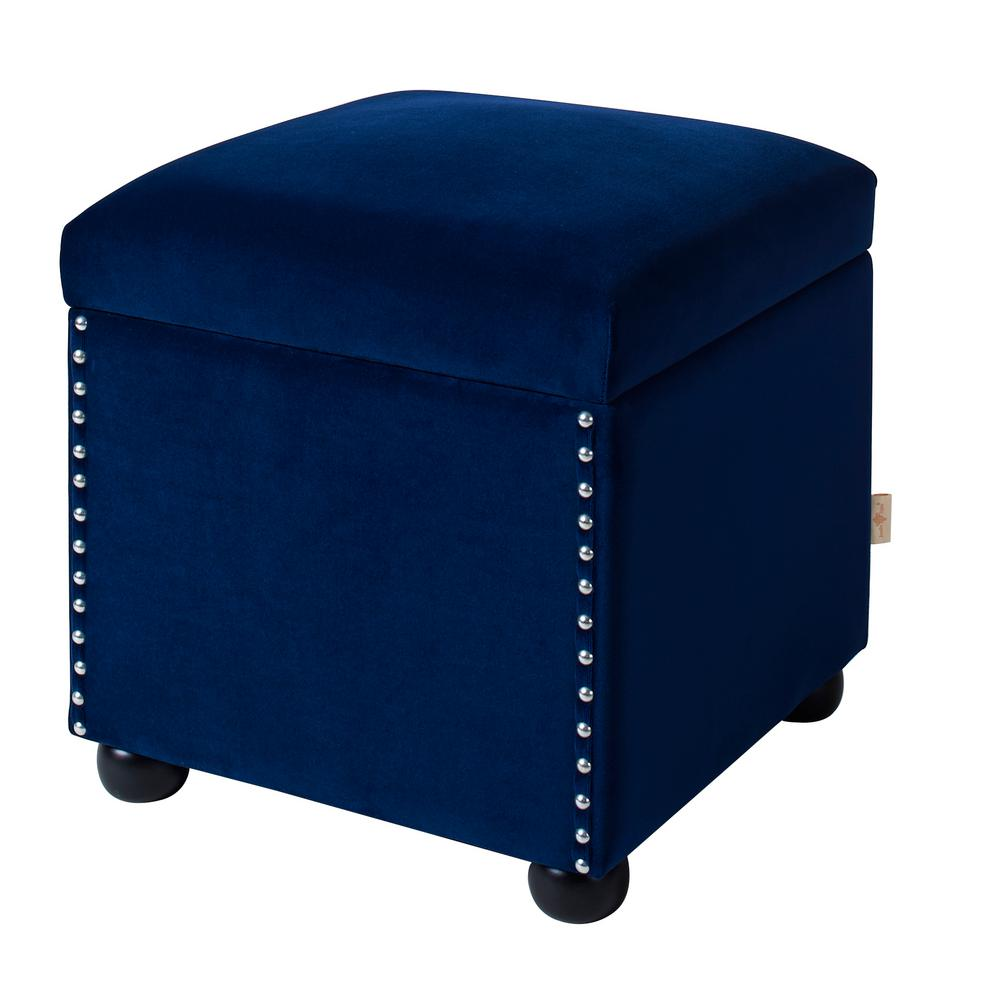 Hailey Navy Blue Storage Cube