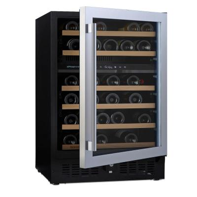 N'FINITY PRO S Dual Zone 46-Bottle 23.75 in. Freestanding Wine Cellar with Stainless Steel Door