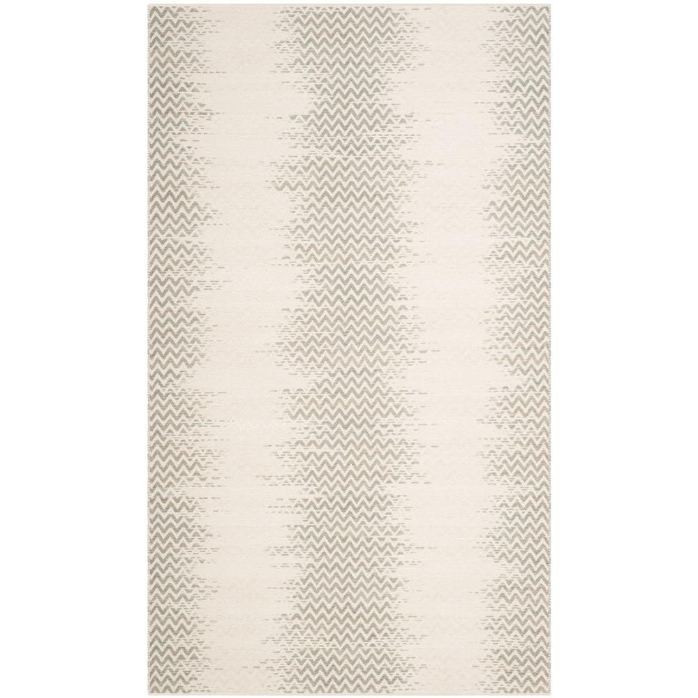 Cotton Kilim Dark Green/Ivory 8 ft. x 10 ft. Area Rug