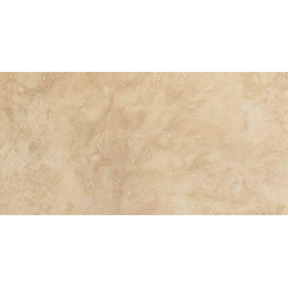 U.S. Ceramic Tile Astral Sand 3 in. x 6 in. Ceramic Surface Bullnose Wall Tile -DISCONTINUED