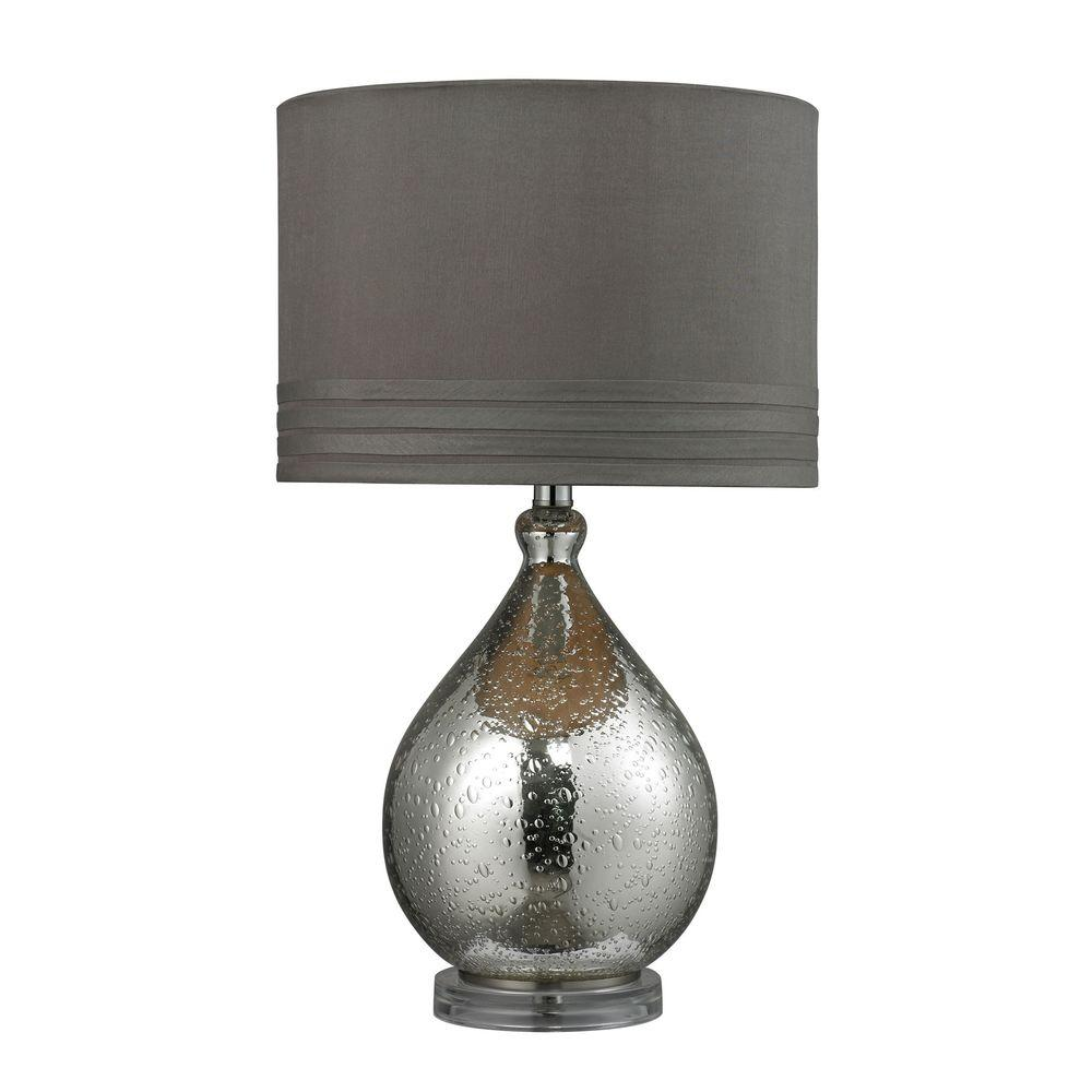 Mercury Plate Bubble Glass Table Lamp