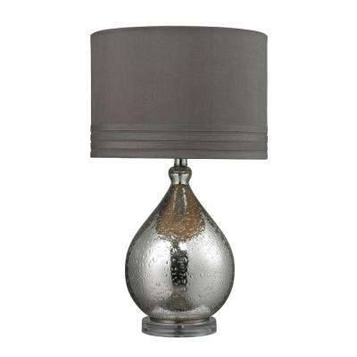 24 in. Mercury Plate Bubble Glass Table Lamp