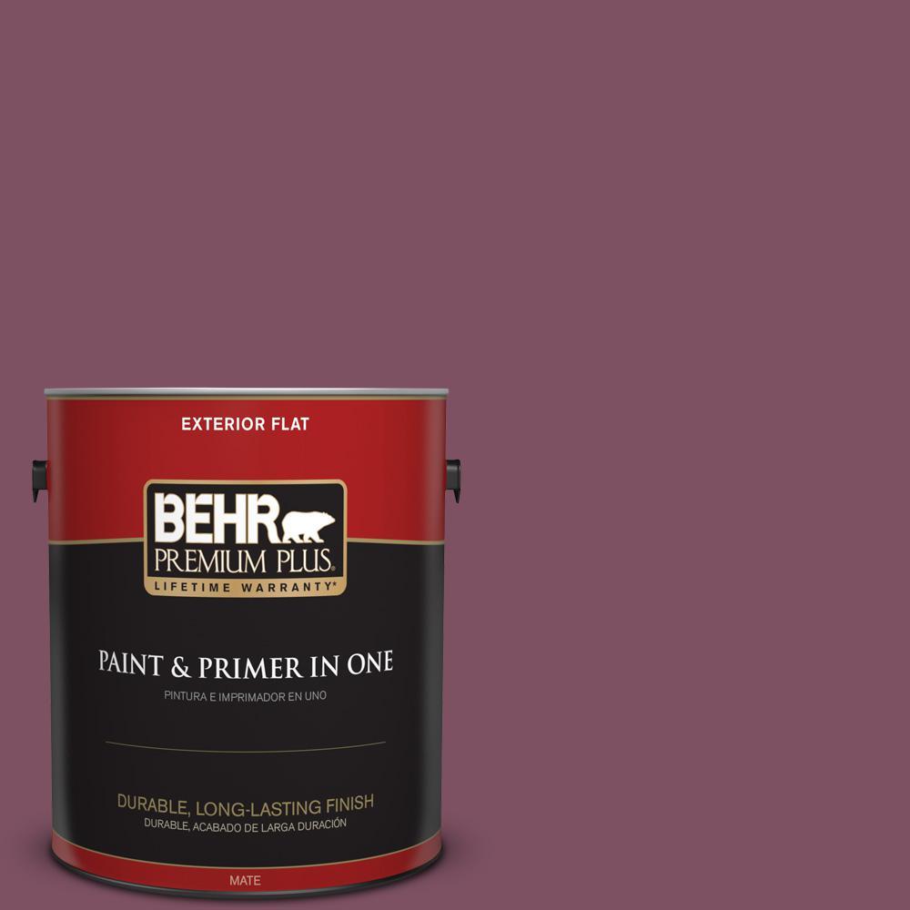 1 gal. #PPU1-19 Classic Berry Flat Exterior Paint