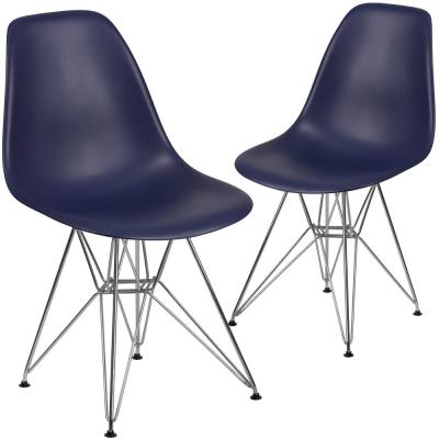 Navy Plastic Party Chairs (Set of 2)
