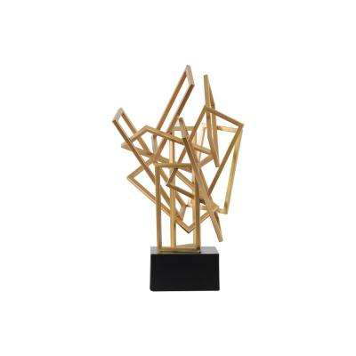 19.75 in. H Sculpture Decorative Sculpture in Gold Coated
