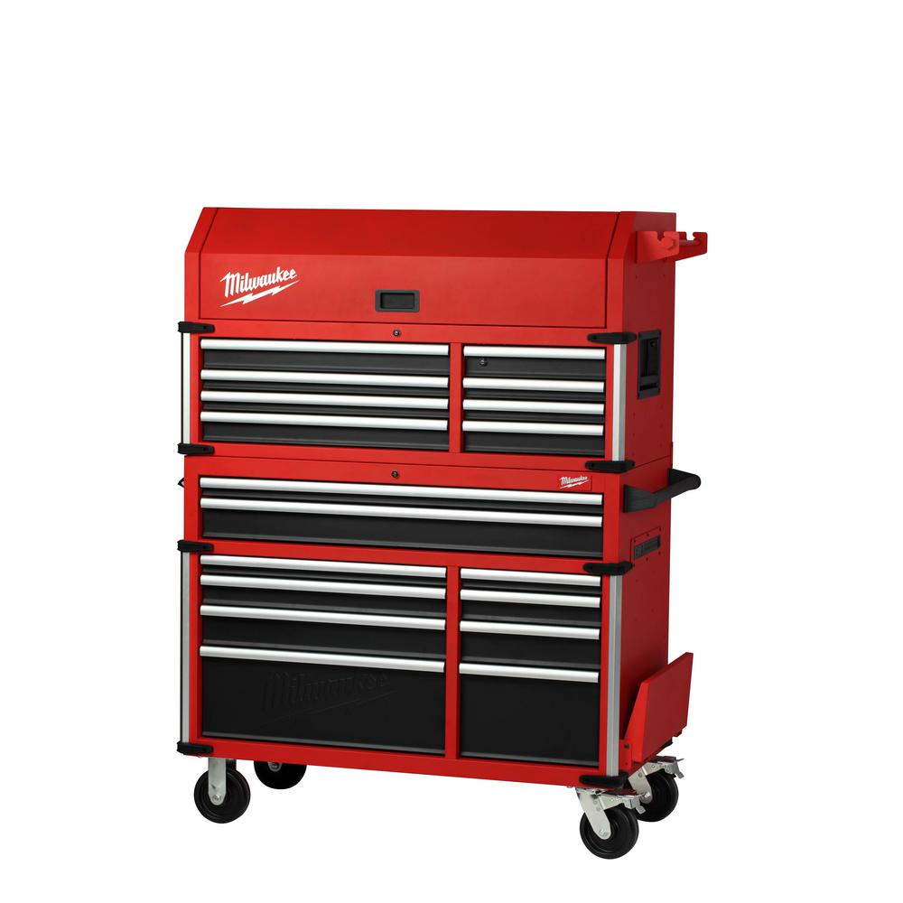 Milwaukee High Capacity 46 in. 18-Drawer Tool Chest and Cabinet Combo