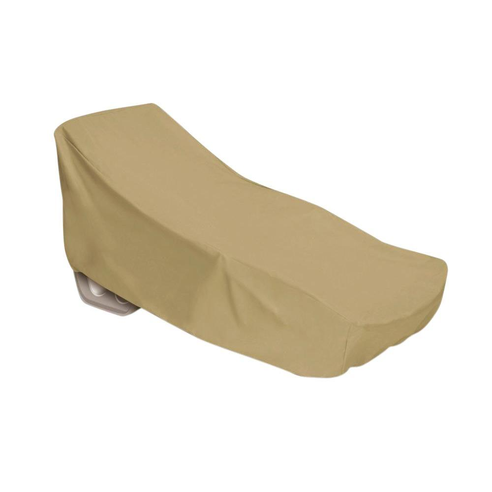 Two Dogs Designs Khaki Oversized Patio Chaise Cover