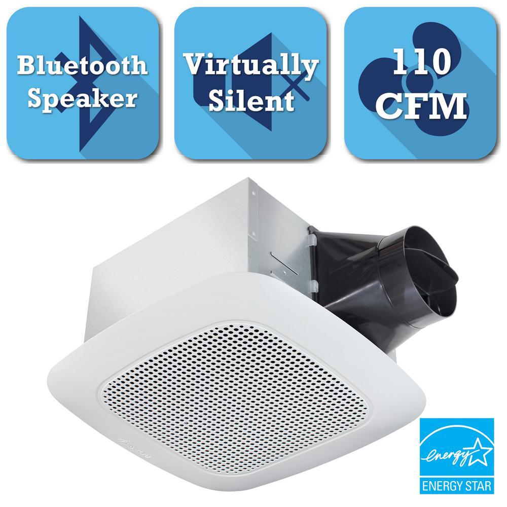 Signature Series 110 CFM Ceiling Bathroom Exhaust Fan with Bluetooth Speaker