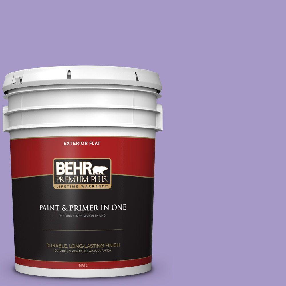 BEHR Premium Plus 5-gal. #640B-5 Bloomsberry Flat Exterior Paint