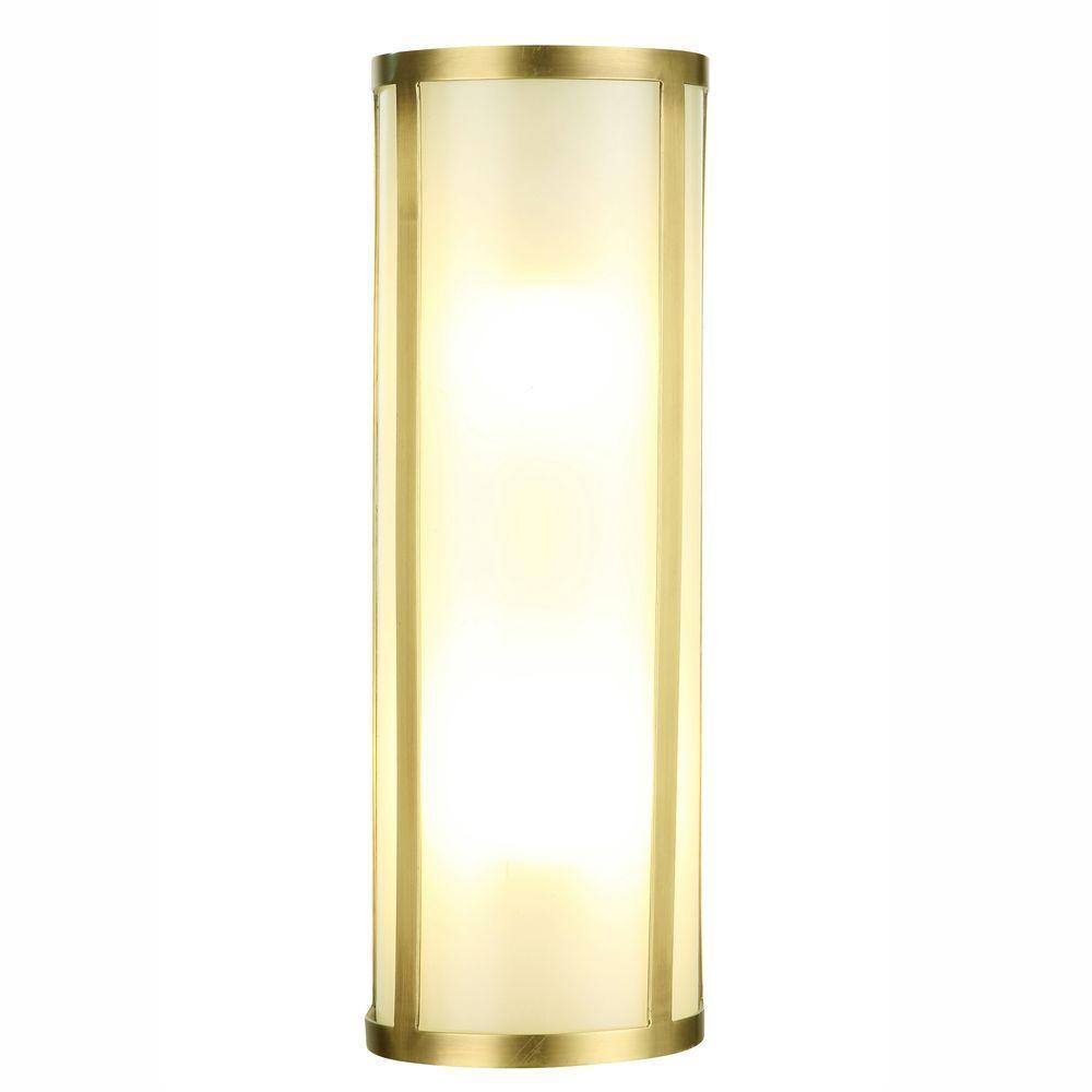 Sierra 2-Light Burnished Brass Sconce