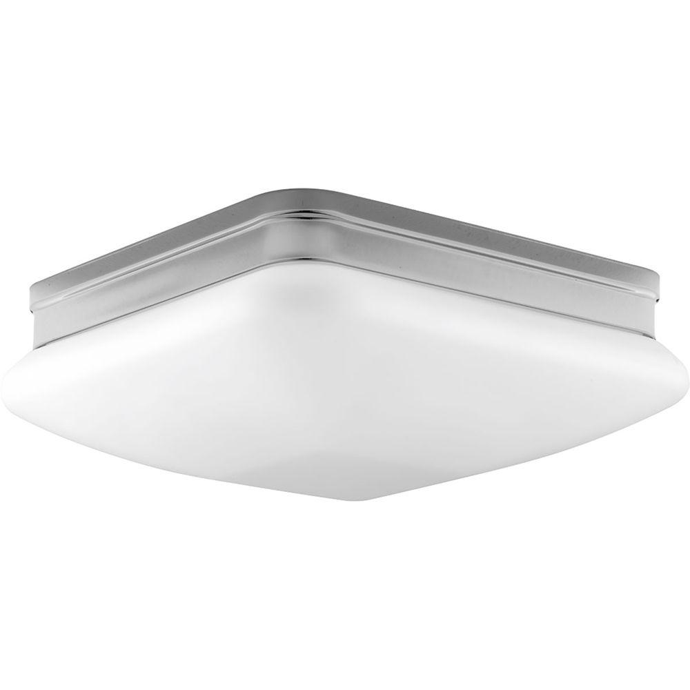 Appeal Collection 2-Light Polished Chrome Flushmount with Etched Opal Glass