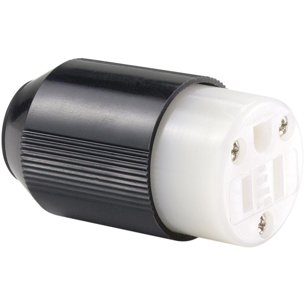 Eaton 15 Amp 125-Volt 5-15 AutoGrip Plug and Connector-5269N - The ...