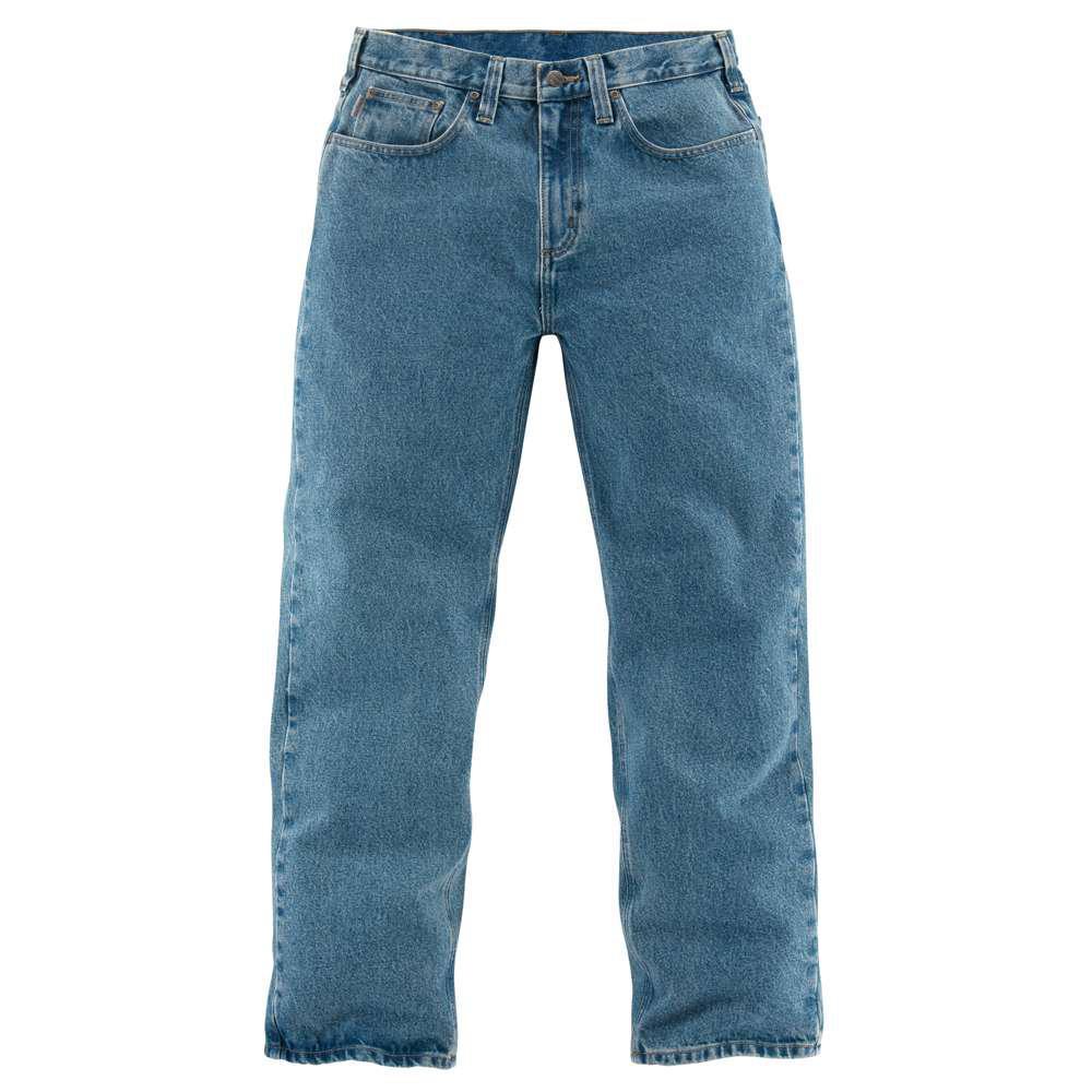 0ef0c121fe1 Carhartt Men's 40x30 Light Vintage Blue Cotton Straight Leg Denim ...
