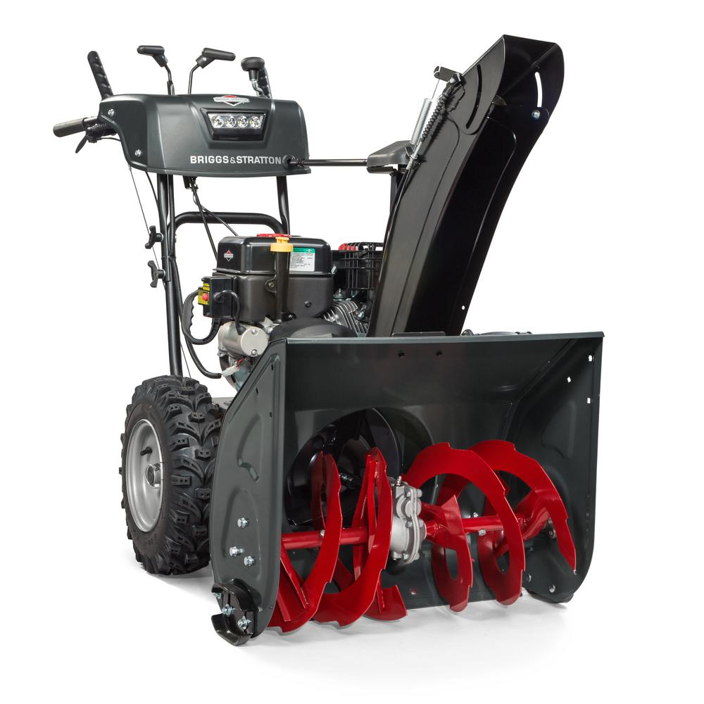 24 in. Steerable 2-Stage Electric Start Gas Snow Blower