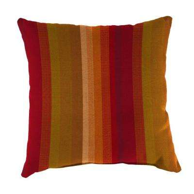 Sunbrella Astoria Sunset Square Outdoor Throw Pillow
