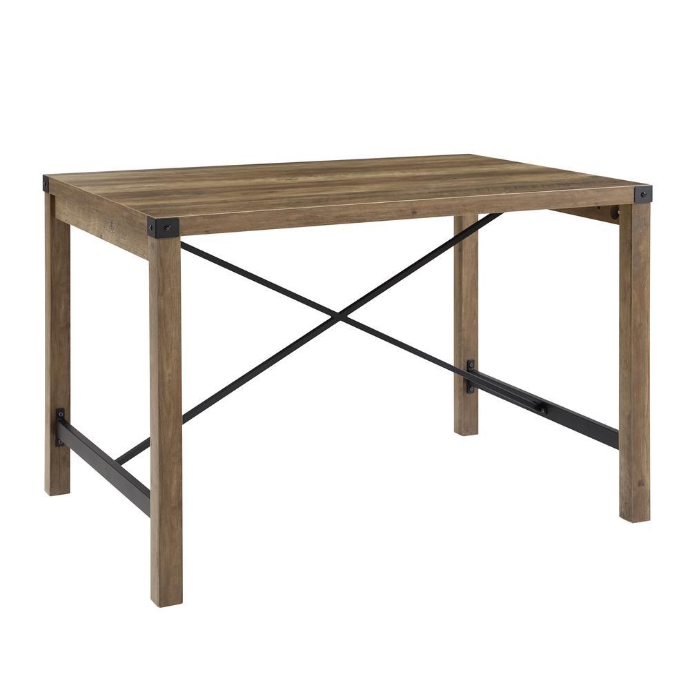 Walker Edison Furniture Company 48 in. Rustic Oak Industrial ...