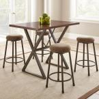 Steve Silver Omaha 26 in. Counter Brown Height Stool (2-Pack)