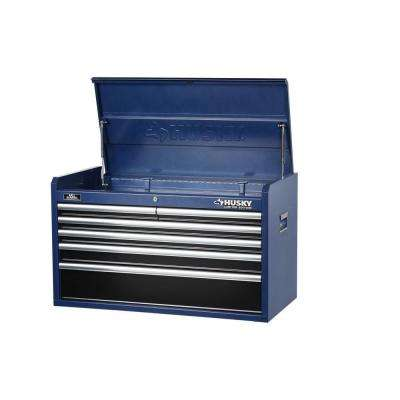 36 in. 6-Drawer Tool Chest, Blue Body and Black Drawer