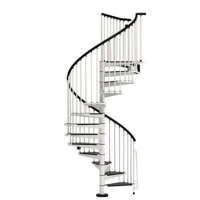 Civik 55 in. White Spiral Staircase Kit