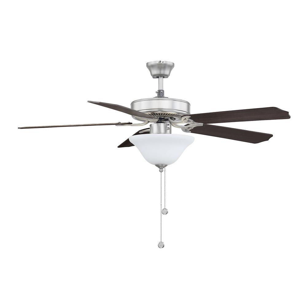 Illumine 52 in. Satin Nickel Ceiling Fan with Light