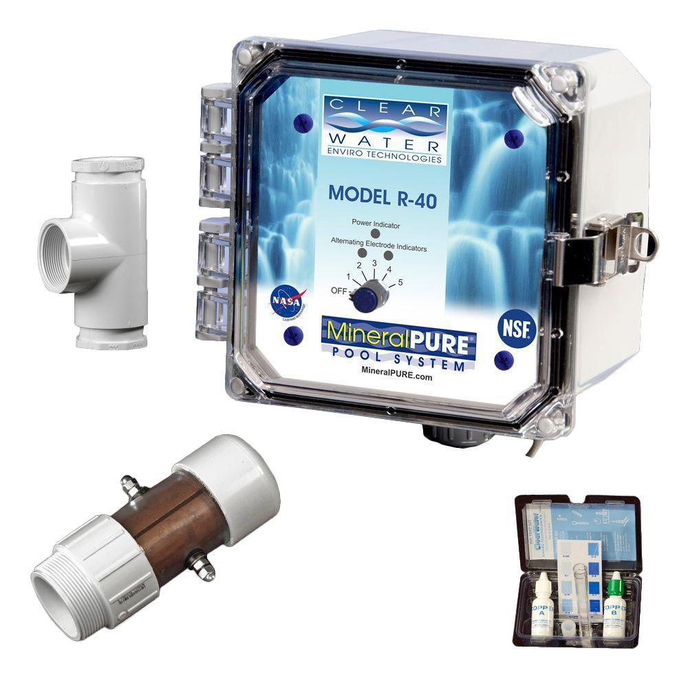 Mineral pure 40 000 gal residential swimming pool ionizer - Swimming pool ionizer ...