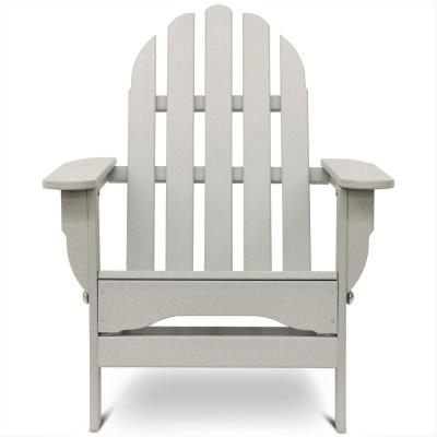 Icon Light Gray Plastic Folding Adirondack Chair