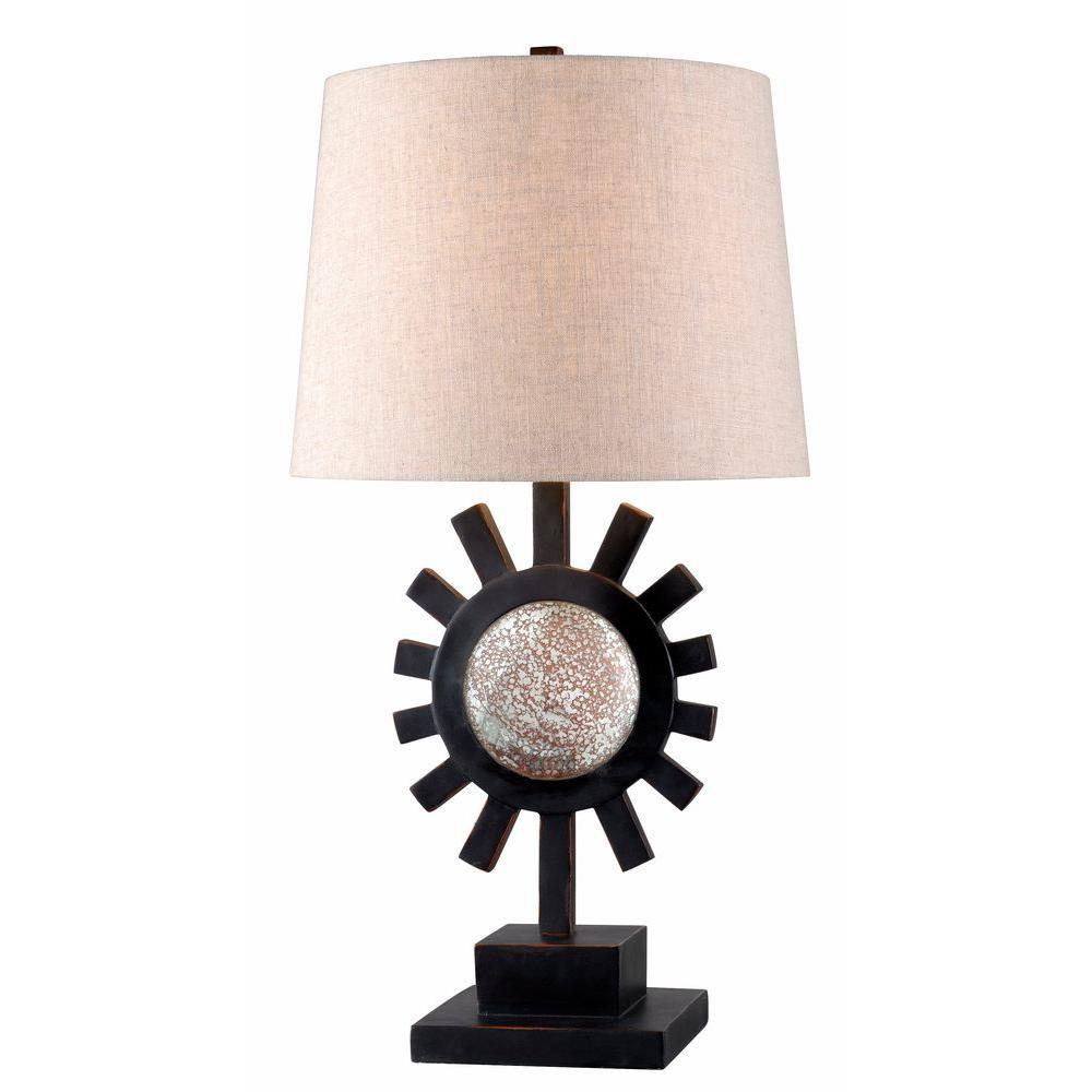 Ra 28 in. Bronze Table Lamp
