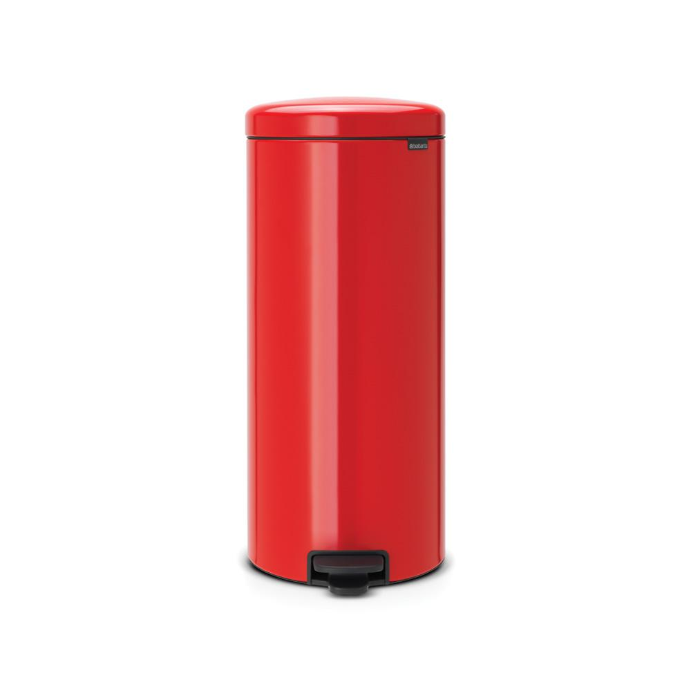 8 Gal. Passion Red Steel Step-On Trash Can