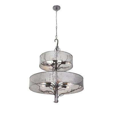 Treefold 9-Light Steel Chandelier