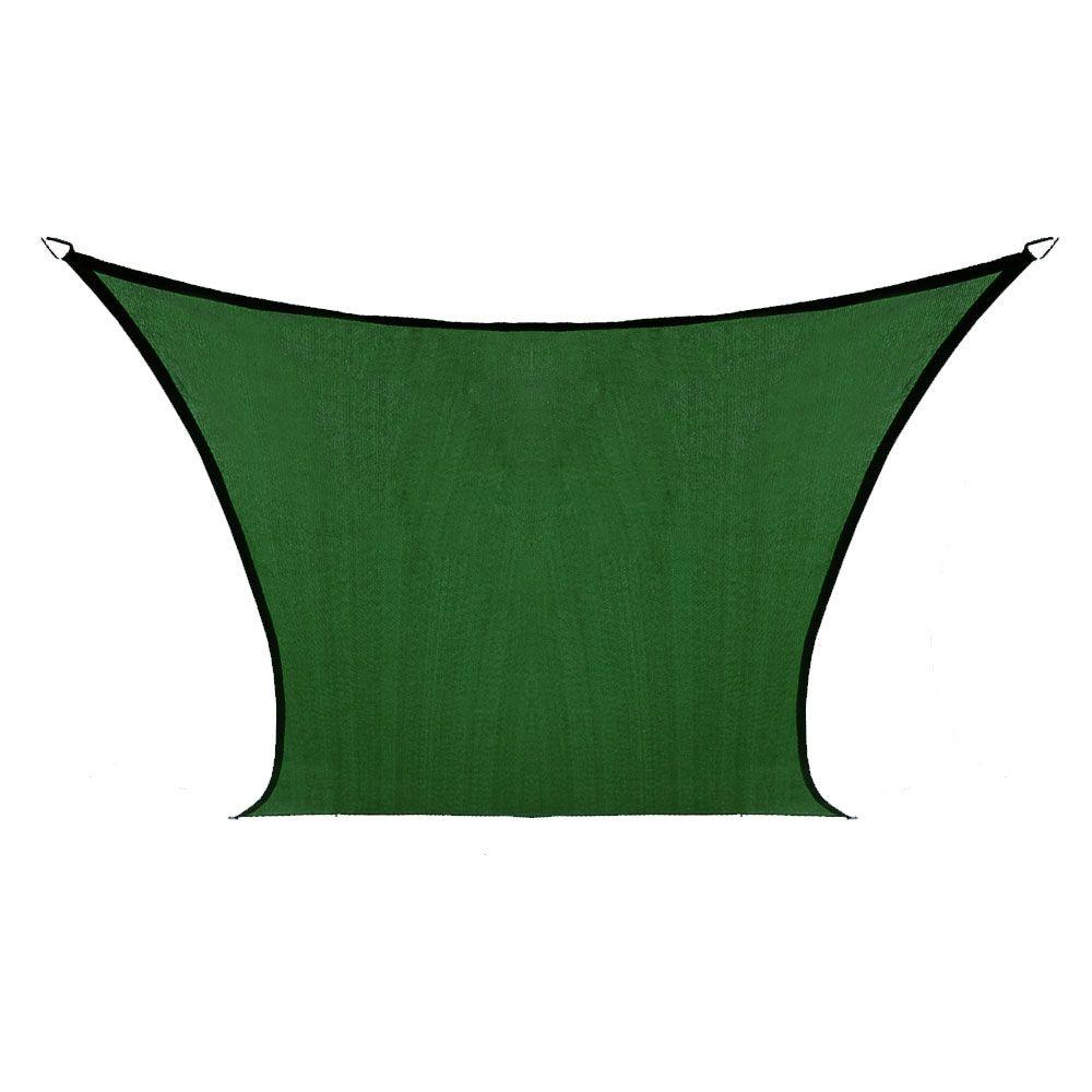 Coolaroo Coolhaven 12 ft. x 12 ft. Heritage Green Square Shade Sail