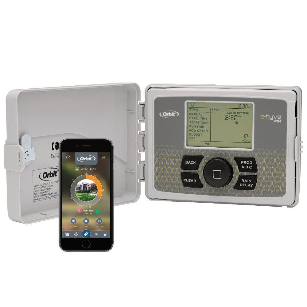 B-hyve 12-Zone Indoor/Outdoor Smart Sprinkler Controller, Works with Amazon Alexa