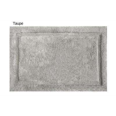 Asheville 24 in. x 60 in. 100% Organic Cotton Bath Rug in Taupe