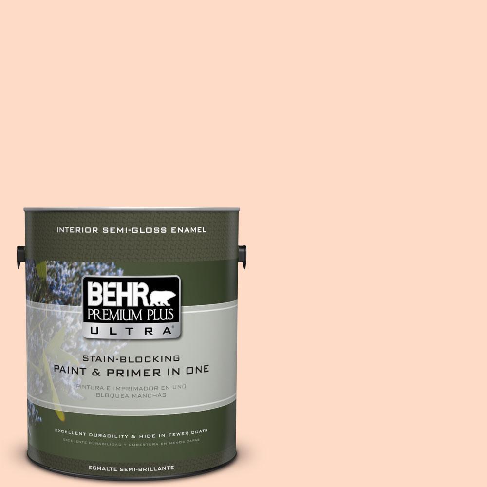 BEHR Premium Plus Ultra 1-gal. #250C-2 Sugared Peach Semi-Gloss Enamel Interior Paint